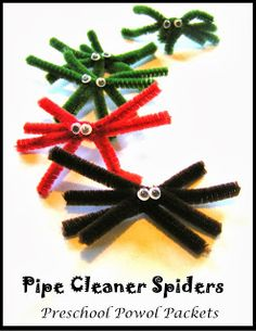 Pipe cleaner #Spider #Preschool Craft!