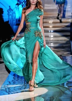 Turquoise Dress by Zuhair Murad