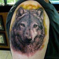 Quarter Wolf Tattoo - 55 Wolf Tattoo Designs  <3 <3