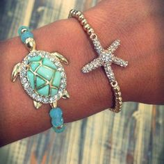 Summer Jewelry #turtle #starfish #jewelry