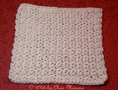 Easy Dishcloth... creator says: 'This makes a loose, thinner dishcloth than any of the worsted weight patterns I've seen on the Internet... It's a stretchy dishcloth that wrings out easily'
