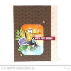 Birds of Paradise, Birds of Paradise Die-namics, Desert Bouquet, Desert Bouquet Die-namics, Wild Greenery Die-namics, Inside & Out Stitched Rounded Rectangle STAX Die-namics, Blueprints 27 Die-namics, Lined Chevron Background - Torico  #mftstamps