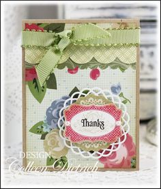 Stampin' Up-only thank you card.
