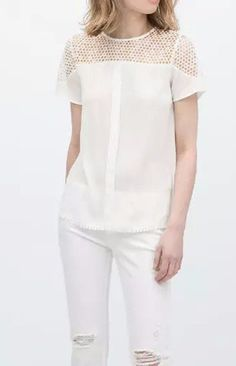 Lace Chiffon Blouse T-Shirt – Trendy Road