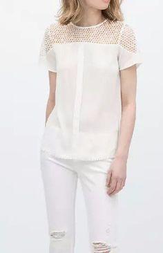 Lace Chiffon Blouse T-Shirt - Trendy Road