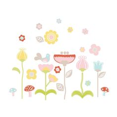 Scarlet Flowers Wall Decals