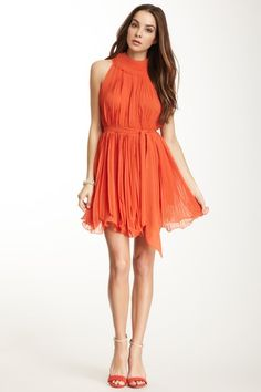 Gracia Pleated Waist Tie Dress on HauteLook