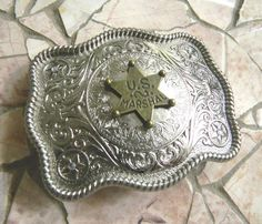 Sheriff Badge Belt Buckle, Law Enforcement, Deputy US Marshall, Cowboys And Indians Western Costume Cowboy And Indian Costume, Western Costumes, Indian Costumes, Western Belt Buckles, Western Belts, Us Marshals, Sheriff Badge, Police Officer Gifts, Cowboys And Indians
