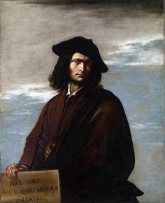 6/20- Happy Birthday, Salvatore Della Rosa, Italian Baroque painter, poet, actor, printmaker, 1615-1673. Self portrait, Philosophy, c.1637.