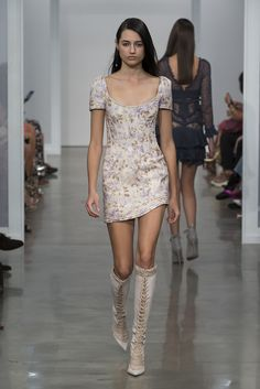 Zimmermann Spring 2017 Ready-to-wear collection Australia designer new york fashion week collection style runway Stranded Corselet Dress, Lace Up Long Boot