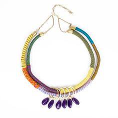 Multi-Color Thread Necklace.
