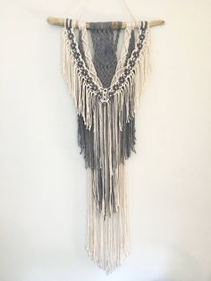 Macrame Wall Hanging Dyed Macrame by SilverMoonMacrame on Etsy