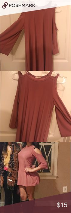Dress! This dress is cute and sexy! It's short so it could be worn as a top or if you like things in he shorter side than as a dress! I have a large behind so it's shorter on me Dresses