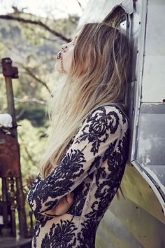 For Love and Lemons Ethereal Maxi Dress / Black + Nude