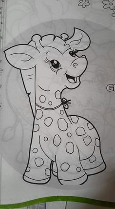 Girafinha Baby Painting, Tole Painting, Fabric Painting, Applique Patterns, Quilt Patterns, Colouring Pages, Coloring Books, Quilting Projects, Art Projects