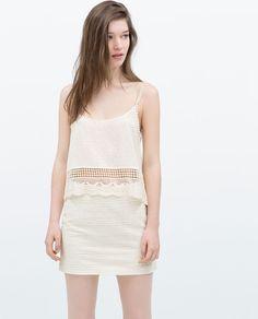 Image 2 of CROCHET MINI SKIRT from Zara