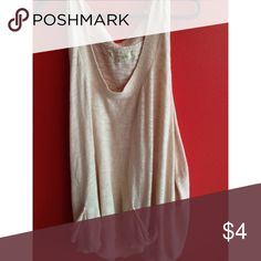 Light Peach Tank Top w/ Pockets knitted and very light peach Tennis Tops Tank Tops