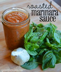 Pin it for later Roasted Marinara Sauce Recipe This roasted marinara recipecould not be any easier and it beats jarred or canned sauce by a landslide. I admittedly tried to make a homemade marinara sauce in the crockpot last fall and it was a MAJOR fail...