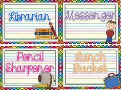 Rainbow Themed Class Job Chart {For the Upper Grades}