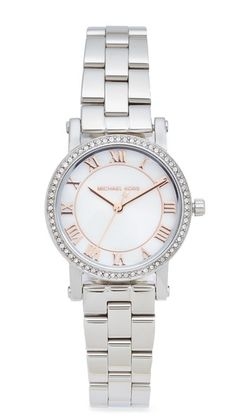 d9f92de0074d Get this Michael Kors s watch now! Click for more details. Worldwide  shipping. Michael Kors Petite Norie Watch  Crystals shine from the bezel of  this petite ...