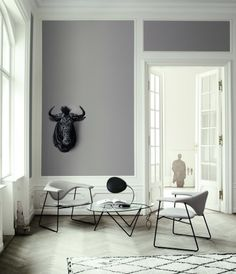 love the look of framing in a wall color like this