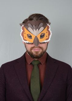 Owl paper mask tutorial