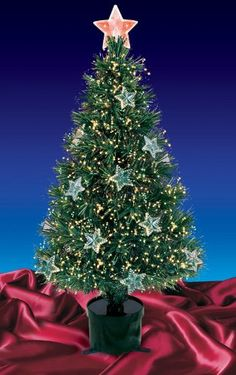 6-Ft. Fiber Optic Christmas Tree (Color Changing) | Trees ...