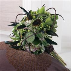 Green Mixed Bridal Bouquet