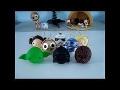 -Cabeça de bonecos do Yoda,R2-D2 e  da Morte (Star Wars)                                                                                                                                                                                 Mais