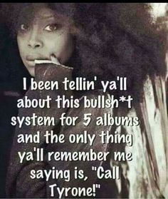 """""""I been tellin' y'all about this bullshit system for 5 albums & the only thing y'all remember me saying is, 'Call Tyrone!'"""" The Great Erykah Badu calling it the way she sees it. By Any Means Necessary, Black History Facts, Truth Hurts, African American History, Native American, Real Talk, Me Quotes, Motivational Quotes, Knowledge"""