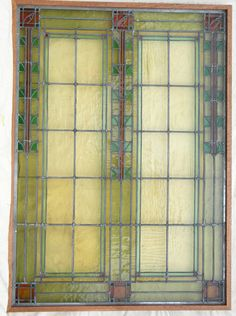 Prairie style stained glass window.
