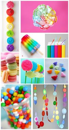 Rainbow colors - pin collage