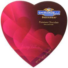 Ghirardelli Valentine's Chocolate Squares, Premium Chocolate Assortment, 7.45-Ounce Heart Box
