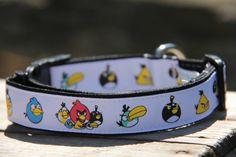 Angry Birds Dog Collar by HandmadeInTheHammer on Etsy, $15.00