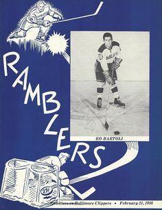 Philadelphia Ramblers Program collectinghockey.weebly.com