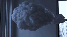 luminária em forma de nuvem