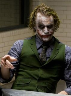"Heath Ledger as 'The Joker' in ""The Dark Knight"". Joker Batman, Joker Heath, Joker Art, Joker Dark Knight, The Dark Knight Trilogy, Der Joker, Joker Und Harley Quinn, Joker Frases, Joker Quotes"
