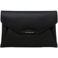 GIVENCHY Medium Antigona Envelope Clutch (18.601.345 IDR) ❤ liked on Polyvore featuring bags, handbags, clutches, black envelope clutch, envelope clutch bag, givenchy, givenchy purse and black purse