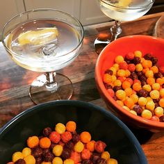 Preparing for the storm: Trix and martinis.