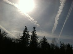 """""""SRM"""" Solar Radiation Management, aka #Geoengineering, aka #Chemtrails, exists. This is not just a wacky conspiracy theory. Here's an article discussing Congressional hearings from 2010: http://www.berkeleydailyplanet.com/issue/2010-02-04/article/34608. They have ramped up the spraying tremendously in the last few years. 3-24-14 was one of the heaviest, most relentless spray days I have seen in the Pacific Northwest."""