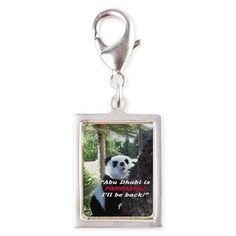 PANDA Silver Portrait Charm: Your fashionable, flamboyant Souvenir directly from Abu Dhabi proves: You travel the World, you are really not a couch potato!  Abu Dhabi, Emirates, UAE, Sheikh, fashion, travel, souvenir, Panda holiday, gift, love, great, fashion, travel, souvenir, present, novelty, World, apparel, OMG, BFF, humor, gag, cool, tablet, Google, shower curtain, sexy, picture, wall, Christmas, birthday, Valentine's day, poster, Easter, Halloween, music, Pin, Pinterest,