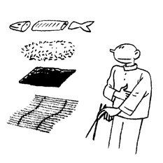 Perfect Sushi | March 9th, 2012 in The New Yorker by Joost Swarte