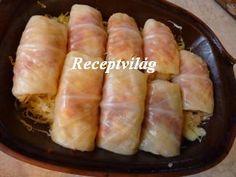 Töltött káposzta cserépedényben - RECEPTVILÁG - Receptes oldal - receptek képekkel Hot Dog Buns, Hot Dogs, Sausage, Food And Drink, Bread, Recipes, Recipies, Sausages, Ripped Recipes