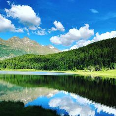 Sunday in st Moritz Summer Vibes, Mirrors, Saints, Sunday, Clouds, Sky, River, Mountains, Nature
