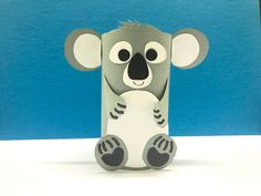 Koala Bear made with toilet paper roll.