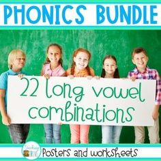 Teach long vowels, vowel teams and diphthongs with these easy to use charts/posters, word walls, and print and go differentiated worksheets.The 120 worksheets are perfect to use in the classroom or send home for homework, distance learning or at home learning.