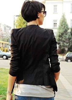 Stylist back view short pixie haircut hairstyle ideas 41
