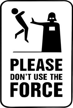 Framed Print - Darth Vader Please DonT Use The Force (Star Wars Picture Yoda)