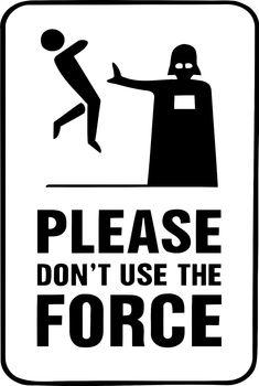 Framed Print - Darth Vader Please DonT Use The Force (Star Wars Picture Yoda) Star Wars Jedi, The Force Star Wars, Film Star Wars, Theme Star Wars, Star Wars Fan Art, Star Wars Party, Darth Vader Star Wars, Star Wars Stencil, Star Trek