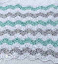 Gray & Mint Green Baby Blanket Mint Chevron Bedding door puddintoes